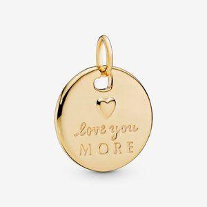 ❣️Pandora  Heart & Love You More Round Pendant